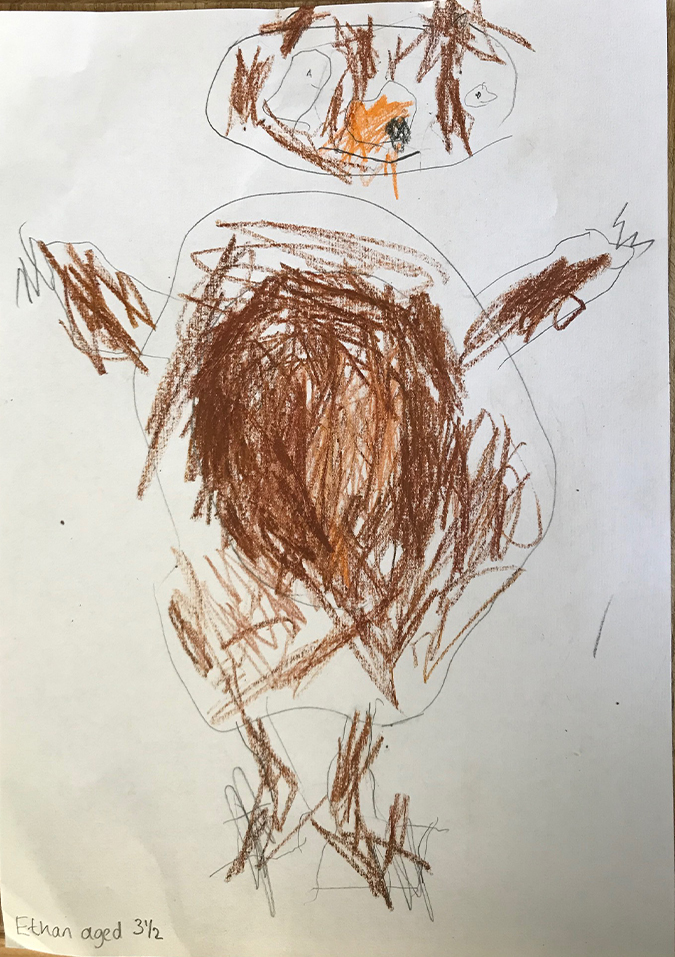 Ethan, 3½ - Draw a Bear competition winner