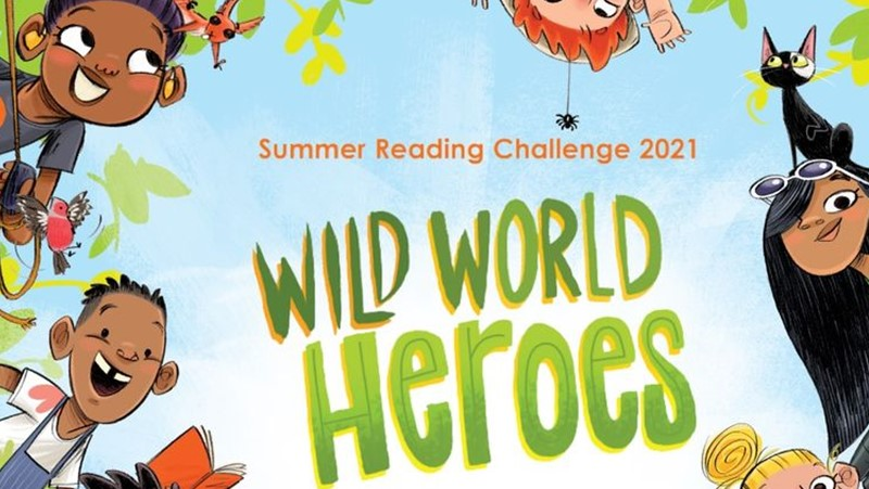 Wild World Heroes logo featuring cartoon children in a jungle